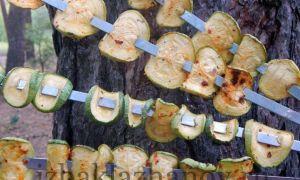 Кабачки на костре