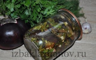 Жареные баклажаны в маринаде на зиму