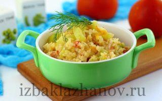 Рагу из кабачков с рисом