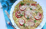 Пицца из кабачков на сковородке