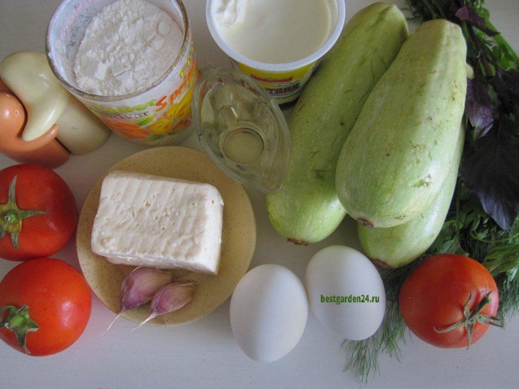 Продукты для кабачкового торта