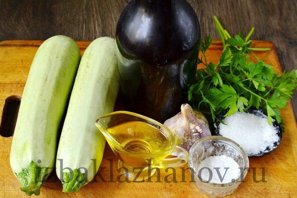 Ингредиенты для маринованных кабачков быстрого приготовления