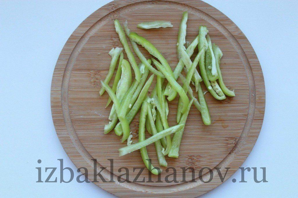 Болгарский перец тонкими полосками