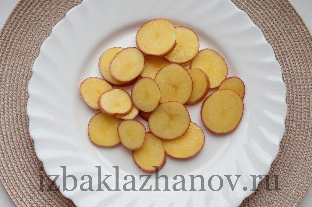 Картофель кружочками для шашлыка