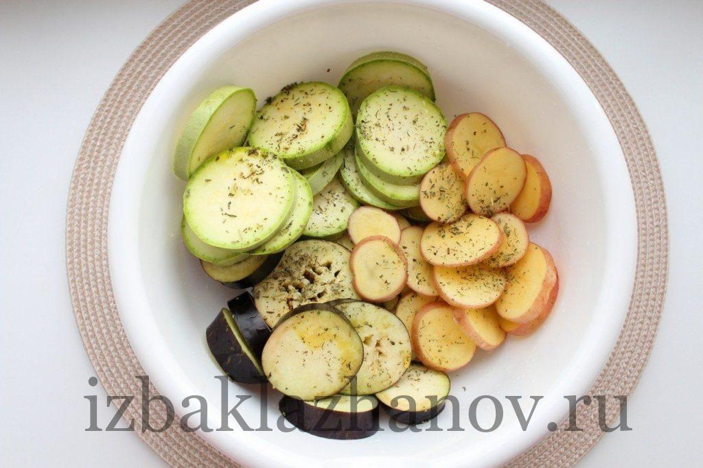 кабачок, картофель и баклажан для шашлыка