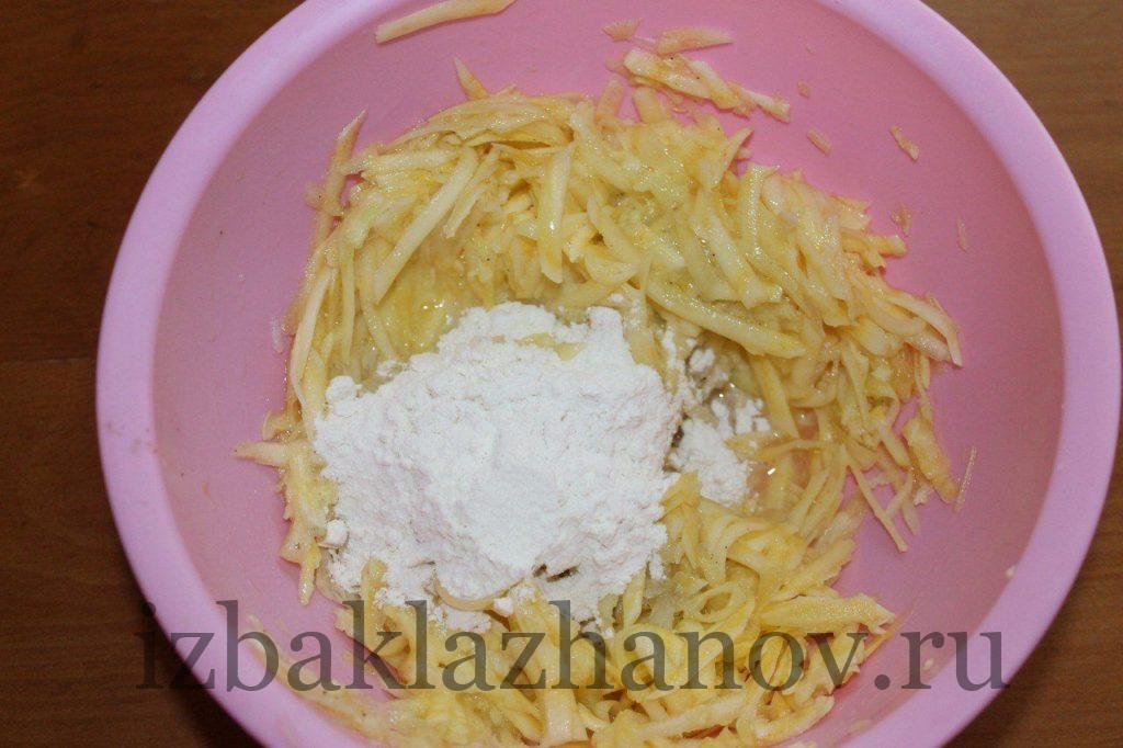 Пшеничная мука к кабачкам, сыру и яйцу