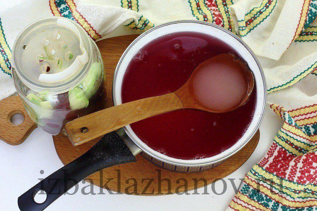 Сироп для компота с алычой и кабачком