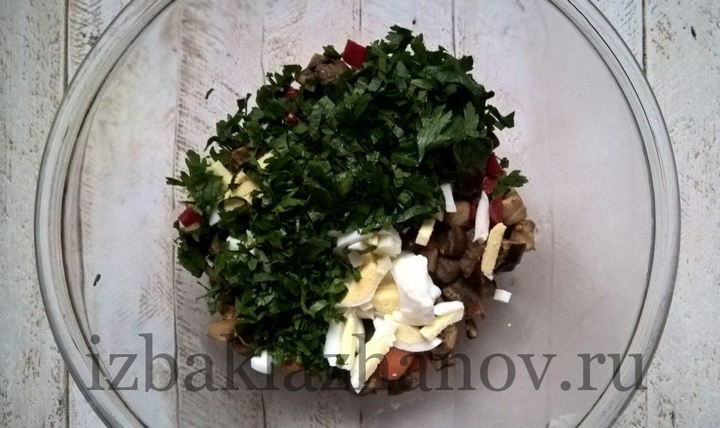 Петрушка добавлена к овощам в пп-салате