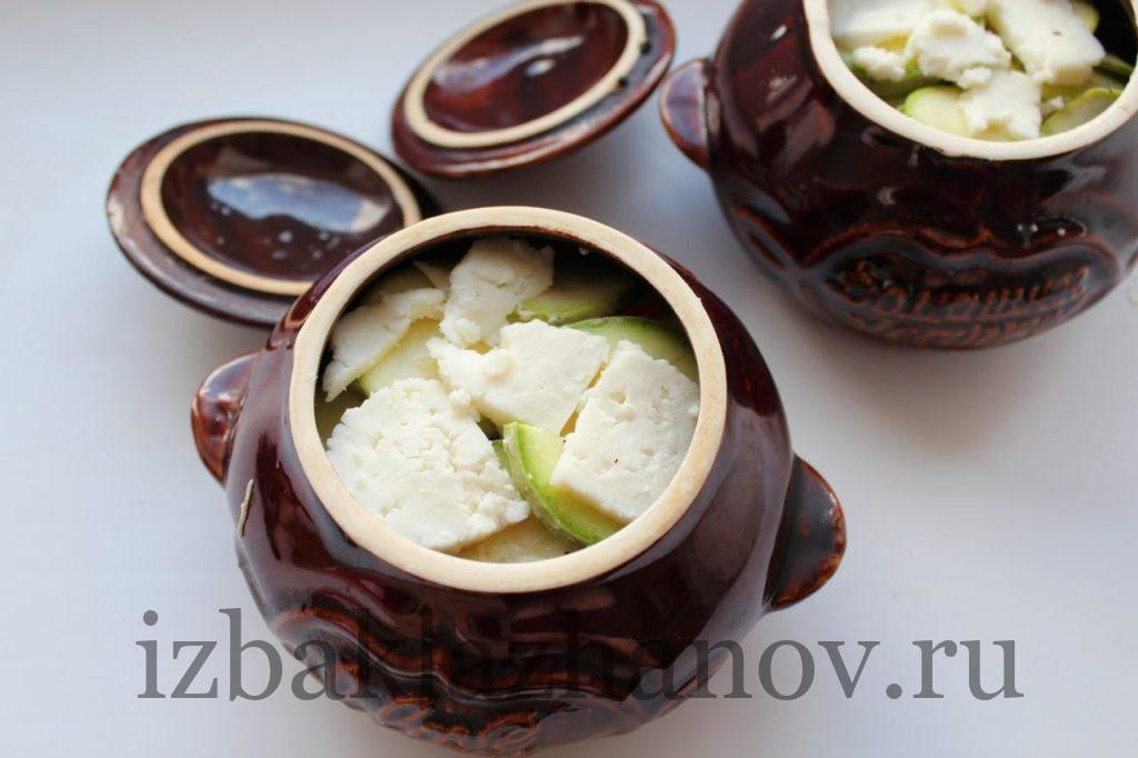 Горшочек с овощами и сыром для запекания