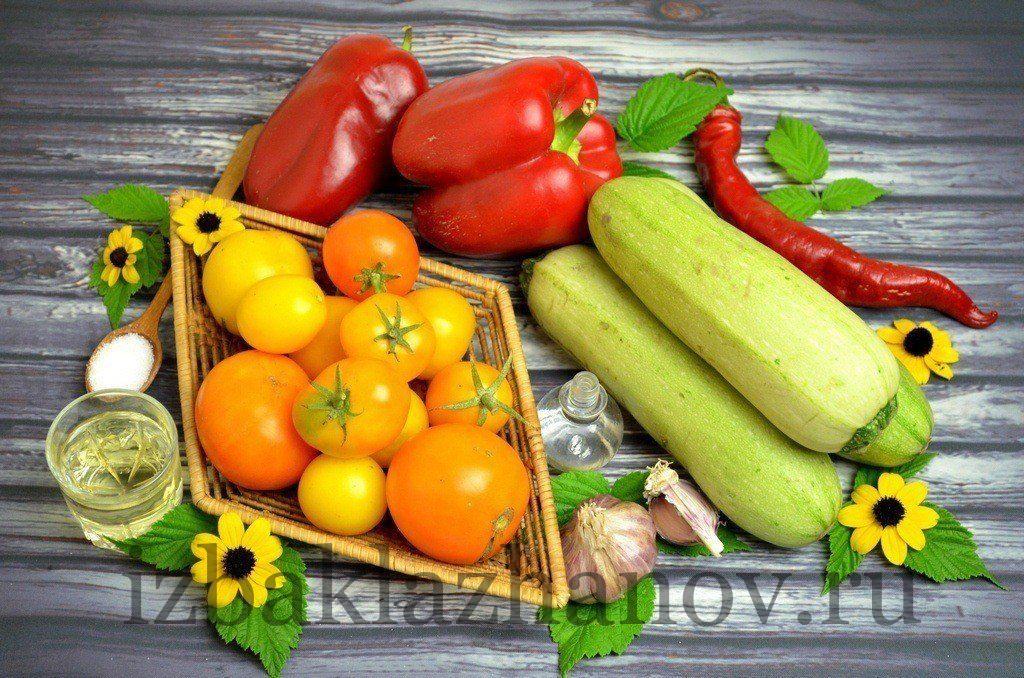 Ингредиенты для аджики из кабачков