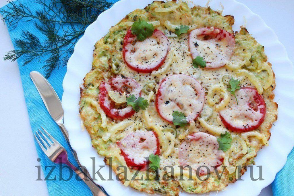 Пицца из кабачков в сковородке