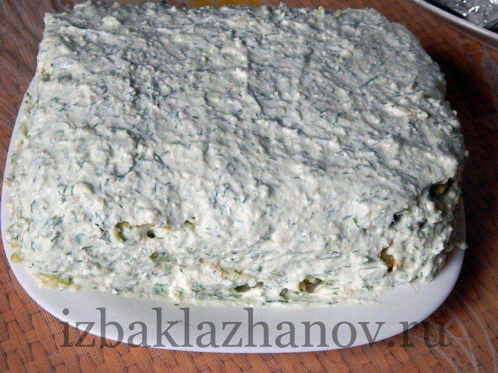 Самый вкусный торт из кабачков с творогом и кунжутом готов