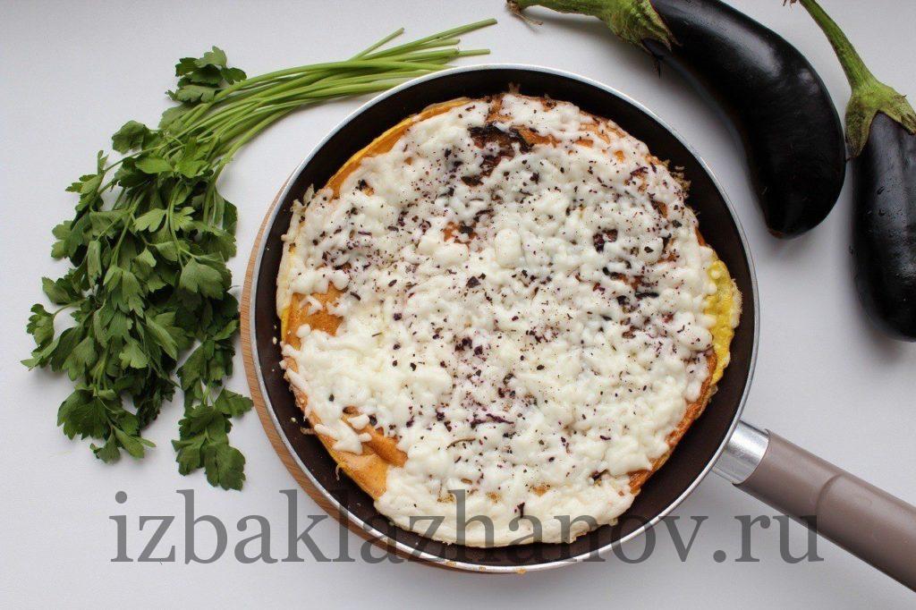 Очень вкусная тортилья с баклажанами и сыром
