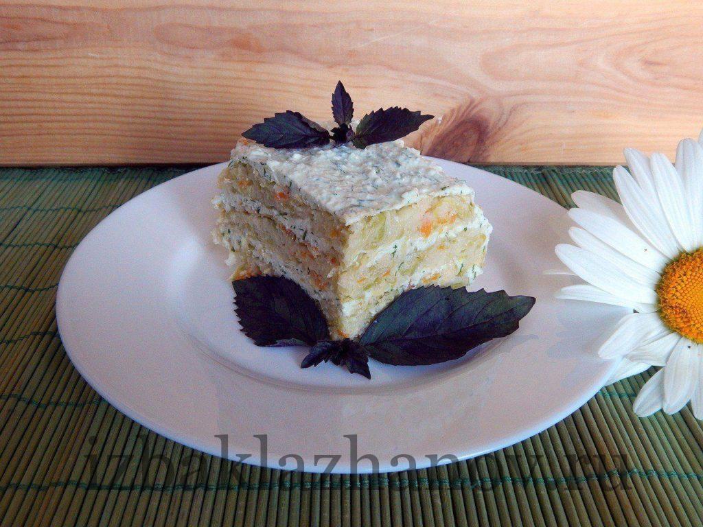 Вкуснейший торт из кабачка с творогом и кунжутом
