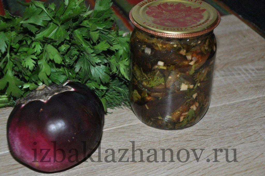 Жареные баклажаны в маринаде очень вкусные на зиму