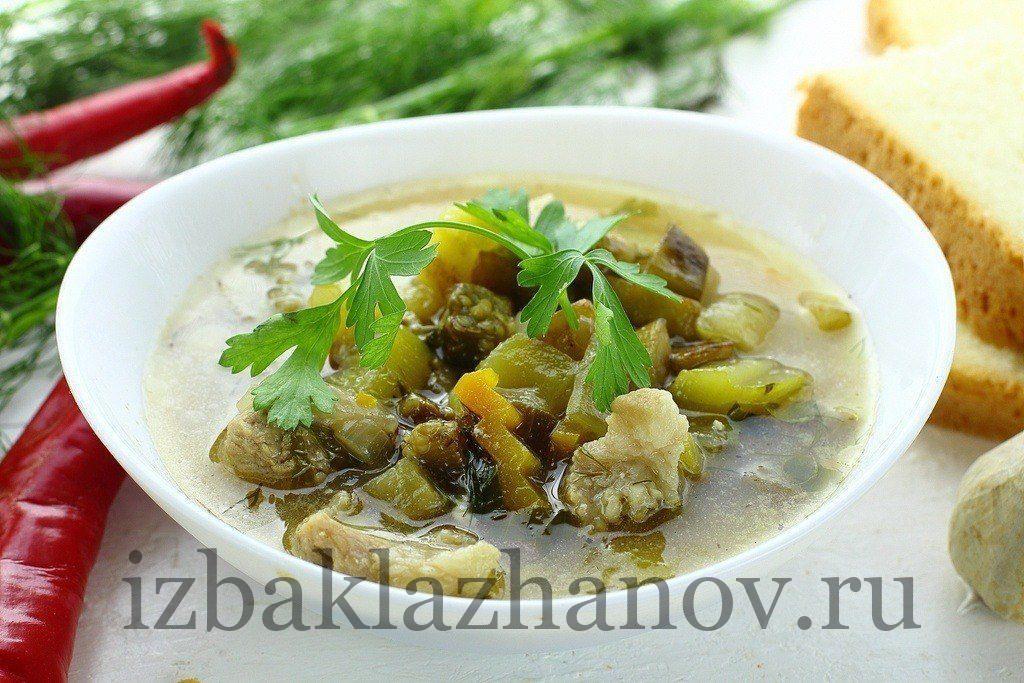 Баклажанный и кабачковый суп