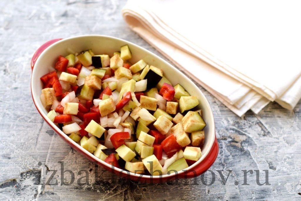 Овощи в жаропрочной форме